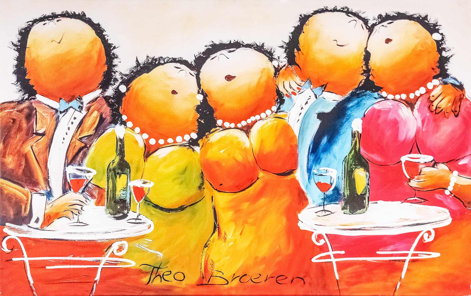 Tielebar catering & verhuur schilderij theo broeren