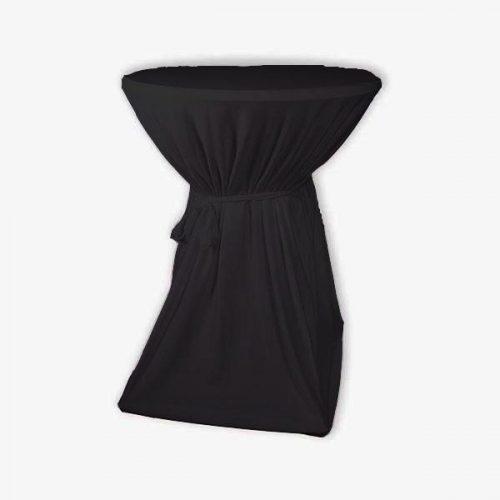 Tielebar catering & verhuur artikel bartafel met tafelrok zwart