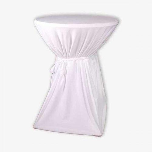 Tielebar catering & verhuur artikel tafelrok voor bartafel wit