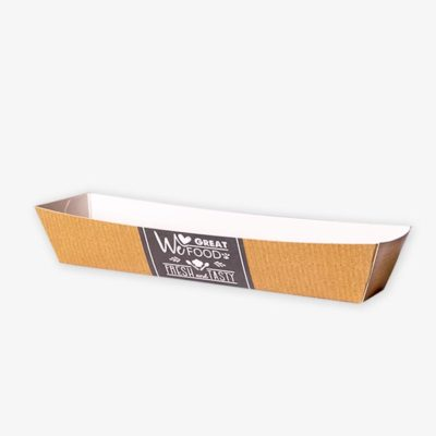 Tielebar catering & verhuur artikel kartonnen frikandelbakje | 200 stuks
