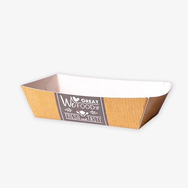 Tielebar catering & verhuur artikel kartonnen snackbakje | 200 stuks