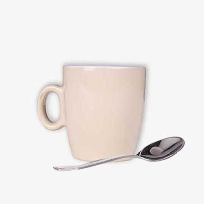 Tielebar catering & verhuur artikel koffiemok en lepeltje